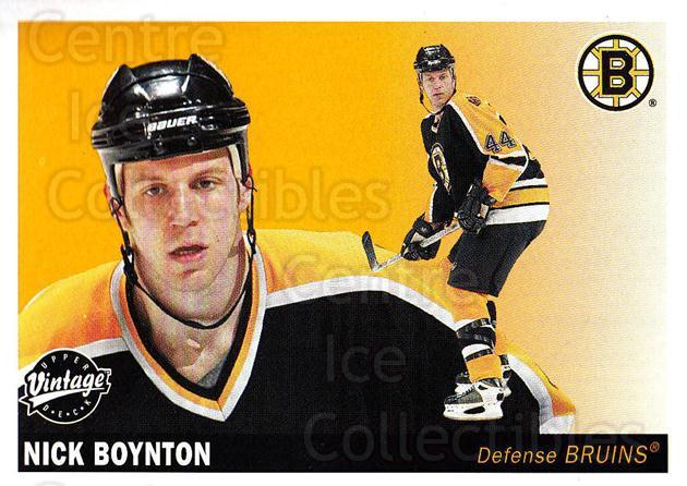2002-03 UD Vintage #19 Nick Boynton<br/>11 In Stock - $1.00 each - <a href=https://centericecollectibles.foxycart.com/cart?name=2002-03%20UD%20Vintage%20%2319%20Nick%20Boynton...&quantity_max=11&price=$1.00&code=110302 class=foxycart> Buy it now! </a>