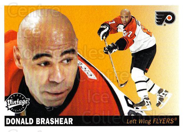 2002-03 UD Vintage #191 Donald Brashear<br/>7 In Stock - $1.00 each - <a href=https://centericecollectibles.foxycart.com/cart?name=2002-03%20UD%20Vintage%20%23191%20Donald%20Brashear...&quantity_max=7&price=$1.00&code=110304 class=foxycart> Buy it now! </a>