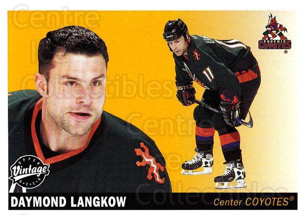 2002-03 UD Vintage #196 Daymond Langkow<br/>7 In Stock - $1.00 each - <a href=https://centericecollectibles.foxycart.com/cart?name=2002-03%20UD%20Vintage%20%23196%20Daymond%20Langkow...&quantity_max=7&price=$1.00&code=110309 class=foxycart> Buy it now! </a>