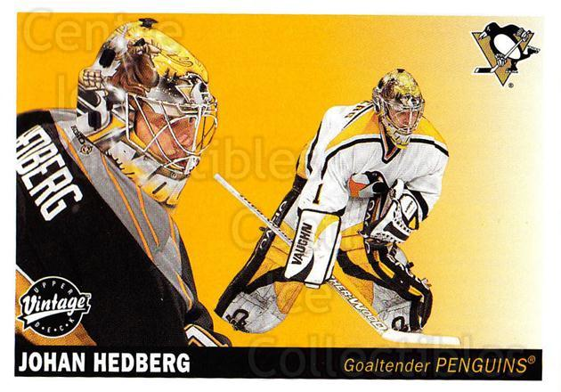 2002-03 UD Vintage #203 Johan Hedberg<br/>7 In Stock - $1.00 each - <a href=https://centericecollectibles.foxycart.com/cart?name=2002-03%20UD%20Vintage%20%23203%20Johan%20Hedberg...&quantity_max=7&price=$1.00&code=110316 class=foxycart> Buy it now! </a>