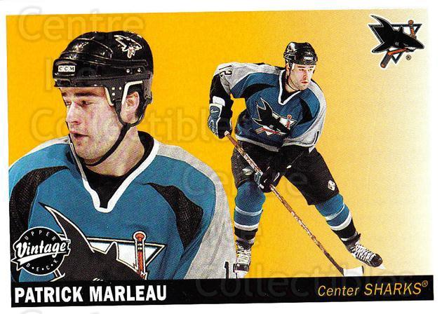 2002-03 UD Vintage #210 Patrick Marleau<br/>8 In Stock - $1.00 each - <a href=https://centericecollectibles.foxycart.com/cart?name=2002-03%20UD%20Vintage%20%23210%20Patrick%20Marleau...&quantity_max=8&price=$1.00&code=110324 class=foxycart> Buy it now! </a>