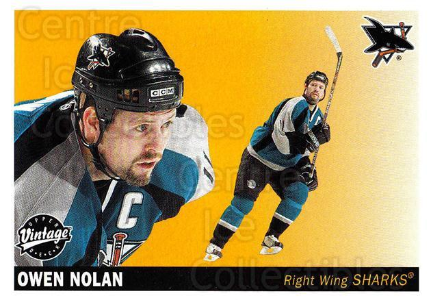 2002-03 UD Vintage #211 Owen Nolan<br/>6 In Stock - $1.00 each - <a href=https://centericecollectibles.foxycart.com/cart?name=2002-03%20UD%20Vintage%20%23211%20Owen%20Nolan...&quantity_max=6&price=$1.00&code=110325 class=foxycart> Buy it now! </a>