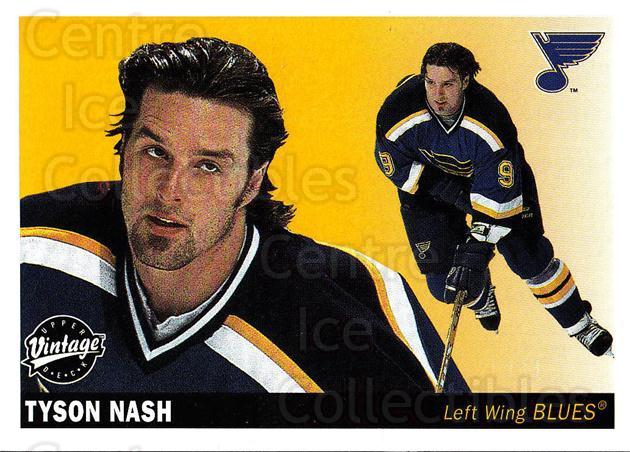 2002-03 UD Vintage #217 Tyson Nash<br/>10 In Stock - $1.00 each - <a href=https://centericecollectibles.foxycart.com/cart?name=2002-03%20UD%20Vintage%20%23217%20Tyson%20Nash...&quantity_max=10&price=$1.00&code=110330 class=foxycart> Buy it now! </a>