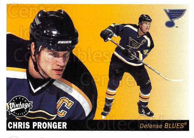 2002-03 UD Vintage #223 Chris Pronger<br/>8 In Stock - $1.00 each - <a href=https://centericecollectibles.foxycart.com/cart?name=2002-03%20UD%20Vintage%20%23223%20Chris%20Pronger...&quantity_max=8&price=$1.00&code=110336 class=foxycart> Buy it now! </a>
