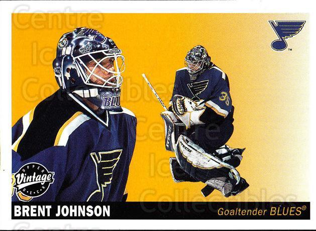 2002-03 UD Vintage #224 Brent Johnson<br/>9 In Stock - $1.00 each - <a href=https://centericecollectibles.foxycart.com/cart?name=2002-03%20UD%20Vintage%20%23224%20Brent%20Johnson...&quantity_max=9&price=$1.00&code=110337 class=foxycart> Buy it now! </a>