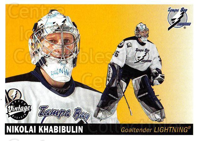 2002-03 UD Vintage #230 Nikolai Khabibulin<br/>6 In Stock - $1.00 each - <a href=https://centericecollectibles.foxycart.com/cart?name=2002-03%20UD%20Vintage%20%23230%20Nikolai%20Khabibu...&quantity_max=6&price=$1.00&code=110343 class=foxycart> Buy it now! </a>