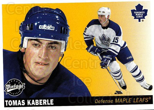2002-03 UD Vintage #234 Tomas Kaberle<br/>6 In Stock - $1.00 each - <a href=https://centericecollectibles.foxycart.com/cart?name=2002-03%20UD%20Vintage%20%23234%20Tomas%20Kaberle...&quantity_max=6&price=$1.00&code=110347 class=foxycart> Buy it now! </a>