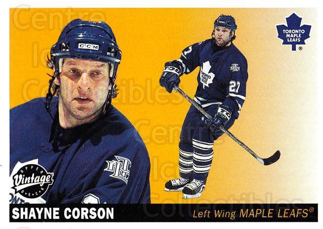 2002-03 UD Vintage #236 Shayne Corson<br/>7 In Stock - $1.00 each - <a href=https://centericecollectibles.foxycart.com/cart?name=2002-03%20UD%20Vintage%20%23236%20Shayne%20Corson...&quantity_max=7&price=$1.00&code=110349 class=foxycart> Buy it now! </a>