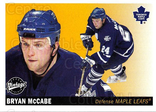 2002-03 UD Vintage #241 Bryan McCabe<br/>6 In Stock - $1.00 each - <a href=https://centericecollectibles.foxycart.com/cart?name=2002-03%20UD%20Vintage%20%23241%20Bryan%20McCabe...&quantity_max=6&price=$1.00&code=110354 class=foxycart> Buy it now! </a>