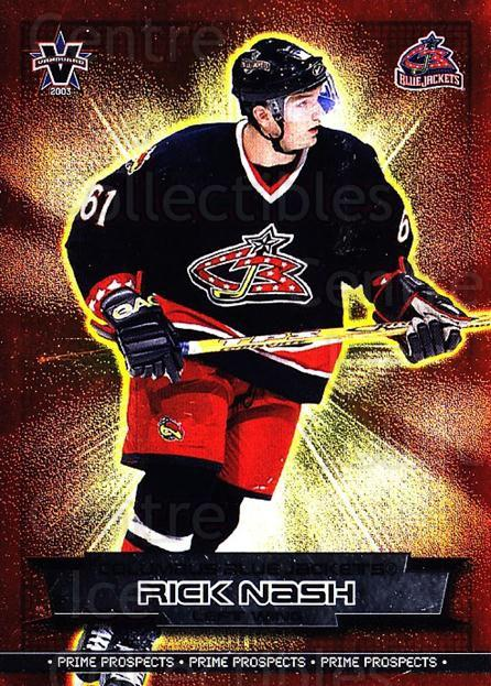 2002-03 Vanguard Prime Prospects #8 Rick Nash<br/>1 In Stock - $3.00 each - <a href=https://centericecollectibles.foxycart.com/cart?name=2002-03%20Vanguard%20Prime%20Prospects%20%238%20Rick%20Nash...&quantity_max=1&price=$3.00&code=110409 class=foxycart> Buy it now! </a>