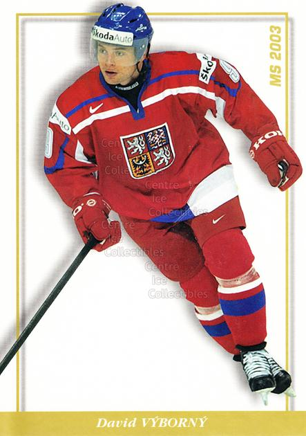 2003-04 Czech National Team Postcards #45 David Vyborny<br/>2 In Stock - $3.00 each - <a href=https://centericecollectibles.foxycart.com/cart?name=2003-04%20Czech%20National%20Team%20Postcards%20%2345%20David%20Vyborny...&quantity_max=2&price=$3.00&code=110571 class=foxycart> Buy it now! </a>