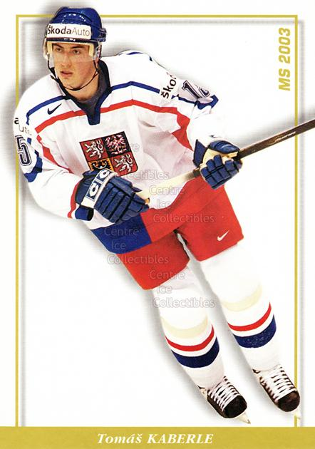 2003-04 Czech National Team Postcards #38 Tomas Kaberle<br/>2 In Stock - $3.00 each - <a href=https://centericecollectibles.foxycart.com/cart?name=2003-04%20Czech%20National%20Team%20Postcards%20%2338%20Tomas%20Kaberle...&quantity_max=2&price=$3.00&code=110572 class=foxycart> Buy it now! </a>