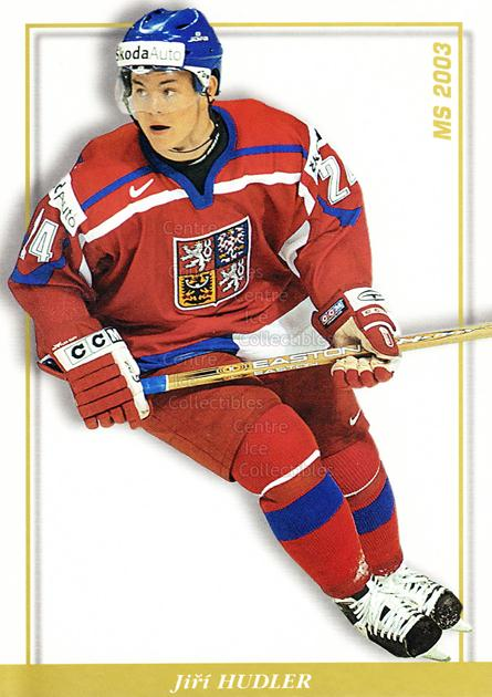 2003-04 Czech National Team Postcards #39 Jiri Hudler<br/>1 In Stock - $3.00 each - <a href=https://centericecollectibles.foxycart.com/cart?name=2003-04%20Czech%20National%20Team%20Postcards%20%2339%20Jiri%20Hudler...&quantity_max=1&price=$3.00&code=110578 class=foxycart> Buy it now! </a>