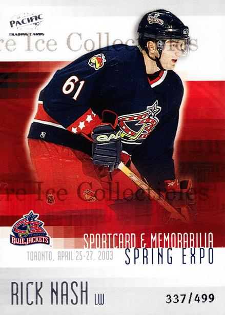 2003 Pacific Toronto Spring Expo Redemption #3 Rick Nash<br/>3 In Stock - $5.00 each - <a href=https://centericecollectibles.foxycart.com/cart?name=2003%20Pacific%20Toronto%20Spring%20Expo%20Redemption%20%233%20Rick%20Nash...&quantity_max=3&price=$5.00&code=110806 class=foxycart> Buy it now! </a>