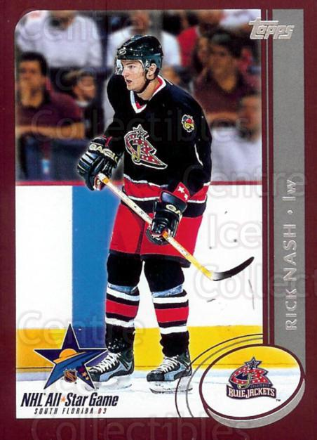 2003 Topps AS Fantasy Redemption #5 Rick Nash<br/>3 In Stock - $3.00 each - <a href=https://centericecollectibles.foxycart.com/cart?name=2003%20Topps%20AS%20Fantasy%20Redemption%20%235%20Rick%20Nash...&quantity_max=3&price=$3.00&code=110858 class=foxycart> Buy it now! </a>