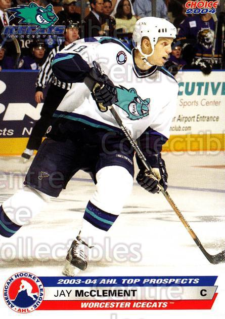 2003-04 AHL Top Prospects #23 Jay McClement<br/>4 In Stock - $3.00 each - <a href=https://centericecollectibles.foxycart.com/cart?name=2003-04%20AHL%20Top%20Prospects%20%2323%20Jay%20McClement...&quantity_max=4&price=$3.00&code=110877 class=foxycart> Buy it now! </a>