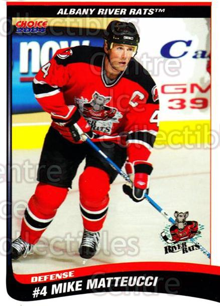 2003-04 Albany River Rats #19 Mike Matteucci<br/>7 In Stock - $3.00 each - <a href=https://centericecollectibles.foxycart.com/cart?name=2003-04%20Albany%20River%20Rats%20%2319%20Mike%20Matteucci...&quantity_max=7&price=$3.00&code=110932 class=foxycart> Buy it now! </a>