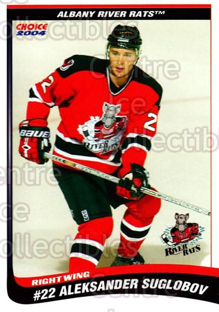 2003-04 Albany River Rats #26 Alexander Suglobov<br/>5 In Stock - $3.00 each - <a href=https://centericecollectibles.foxycart.com/cart?name=2003-04%20Albany%20River%20Rats%20%2326%20Alexander%20Suglo...&quantity_max=5&price=$3.00&code=110939 class=foxycart> Buy it now! </a>