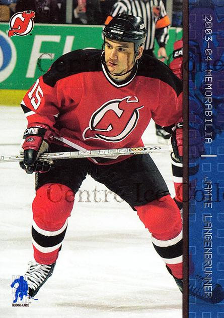 2003-04 BAP Memorabilia Sapphire #32 Jamie Langenbrunner<br/>4 In Stock - $5.00 each - <a href=https://centericecollectibles.foxycart.com/cart?name=2003-04%20BAP%20Memorabilia%20Sapphire%20%2332%20Jamie%20Langenbru...&quantity_max=4&price=$5.00&code=111020 class=foxycart> Buy it now! </a>