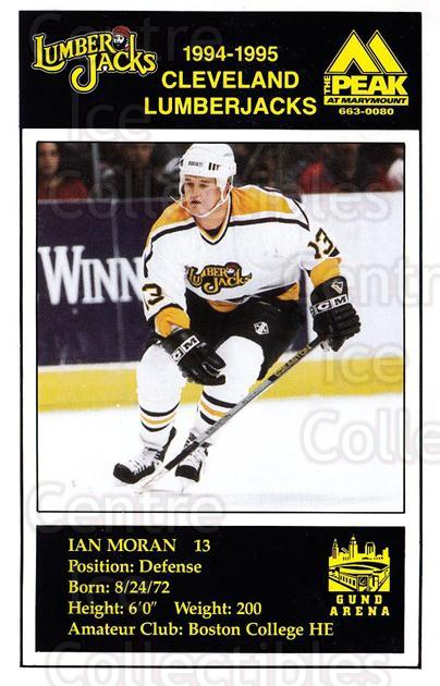 1994-95 Cleveland Lumberjacks Postcards #18 Ian Moran<br/>4 In Stock - $3.00 each - <a href=https://centericecollectibles.foxycart.com/cart?name=1994-95%20Cleveland%20Lumberjacks%20Postcards%20%2318%20Ian%20Moran...&quantity_max=4&price=$3.00&code=1111 class=foxycart> Buy it now! </a>