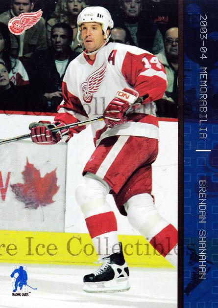 2003-04 BAP Memorabilia Sapphire #15 Brendan Shanahan<br/>4 In Stock - $5.00 each - <a href=https://centericecollectibles.foxycart.com/cart?name=2003-04%20BAP%20Memorabilia%20Sapphire%20%2315%20Brendan%20Shanaha...&quantity_max=4&price=$5.00&code=111203 class=foxycart> Buy it now! </a>