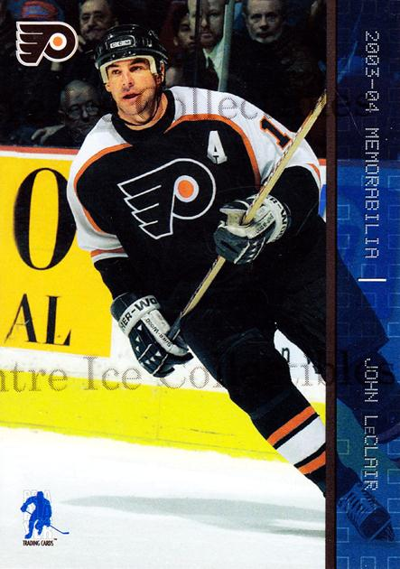 2003-04 BAP Memorabilia Sapphire #43 John LeClair<br/>7 In Stock - $5.00 each - <a href=https://centericecollectibles.foxycart.com/cart?name=2003-04%20BAP%20Memorabilia%20Sapphire%20%2343%20John%20LeClair...&quantity_max=7&price=$5.00&code=111219 class=foxycart> Buy it now! </a>