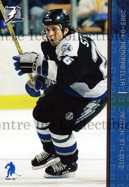 2003-04 BAP Memorabilia Sapphire #52 Martin St. Louis<br/>1 In Stock - $5.00 each - <a href=https://centericecollectibles.foxycart.com/cart?name=2003-04%20BAP%20Memorabilia%20Sapphire%20%2352%20Martin%20St.%20Loui...&quantity_max=1&price=$5.00&code=111220 class=foxycart> Buy it now! </a>