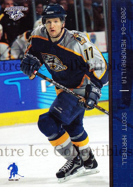 2003-04 BAP Memorabilia Sapphire #82 Scott Hartnell<br/>4 In Stock - $5.00 each - <a href=https://centericecollectibles.foxycart.com/cart?name=2003-04%20BAP%20Memorabilia%20Sapphire%20%2382%20Scott%20Hartnell...&quantity_max=4&price=$5.00&code=111227 class=foxycart> Buy it now! </a>