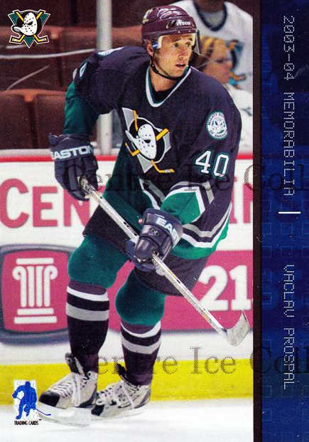 2003-04 BAP Memorabilia Sapphire #96 Vaclav Prospal<br/>4 In Stock - $5.00 each - <a href=https://centericecollectibles.foxycart.com/cart?name=2003-04%20BAP%20Memorabilia%20Sapphire%20%2396%20Vaclav%20Prospal...&quantity_max=4&price=$5.00&code=111230 class=foxycart> Buy it now! </a>