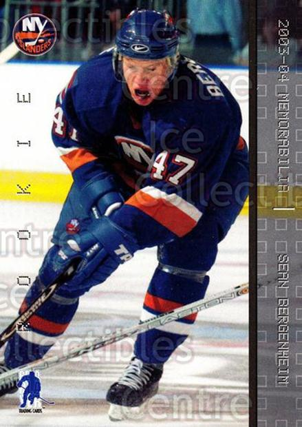 2003-04 BAP Memorabilia #186 Sean Bergenheim<br/>50 In Stock - $2.00 each - <a href=https://centericecollectibles.foxycart.com/cart?name=2003-04%20BAP%20Memorabilia%20%23186%20Sean%20Bergenheim...&quantity_max=50&price=$2.00&code=111339 class=foxycart> Buy it now! </a>