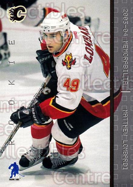 2003-04 BAP Memorabilia #196 Matthew Lombardi<br/>46 In Stock - $2.00 each - <a href=https://centericecollectibles.foxycart.com/cart?name=2003-04%20BAP%20Memorabilia%20%23196%20Matthew%20Lombard...&quantity_max=46&price=$2.00&code=111348 class=foxycart> Buy it now! </a>