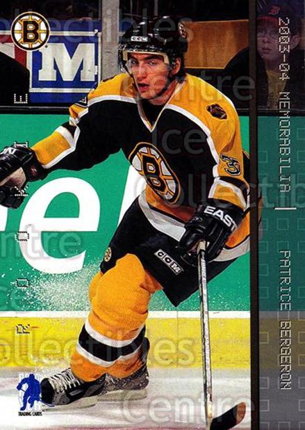 2003-04 BAP Memorabilia #200 Patrice Bergeron<br/>37 In Stock - $5.00 each - <a href=https://centericecollectibles.foxycart.com/cart?name=2003-04%20BAP%20Memorabilia%20%23200%20Patrice%20Bergero...&quantity_max=37&price=$5.00&code=111353 class=foxycart> Buy it now! </a>