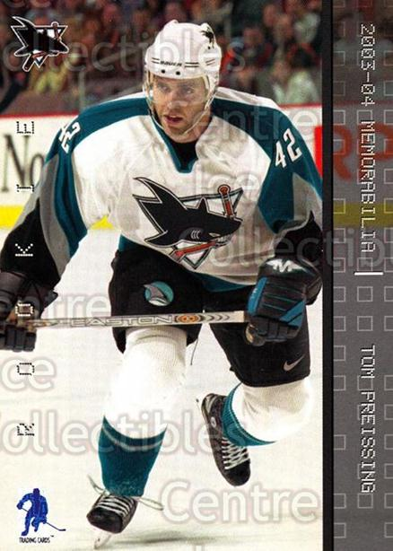 2003-04 BAP Memorabilia #205 Tom Preissing<br/>3 In Stock - $2.00 each - <a href=https://centericecollectibles.foxycart.com/cart?name=2003-04%20BAP%20Memorabilia%20%23205%20Tom%20Preissing...&quantity_max=3&price=$2.00&code=111358 class=foxycart> Buy it now! </a>