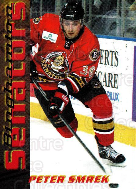 2003-04 Binghamton Senators #18 Peter Smrek<br/>3 In Stock - $3.00 each - <a href=https://centericecollectibles.foxycart.com/cart?name=2003-04%20Binghamton%20Senators%20%2318%20Peter%20Smrek...&quantity_max=3&price=$3.00&code=111605 class=foxycart> Buy it now! </a>