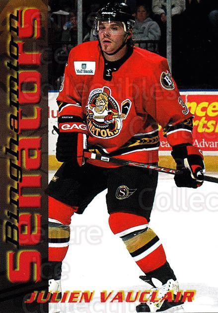 2003-04 Binghamton Senators #21 Julien Vauclair<br/>5 In Stock - $3.00 each - <a href=https://centericecollectibles.foxycart.com/cart?name=2003-04%20Binghamton%20Senators%20%2321%20Julien%20Vauclair...&quantity_max=5&price=$3.00&code=111609 class=foxycart> Buy it now! </a>