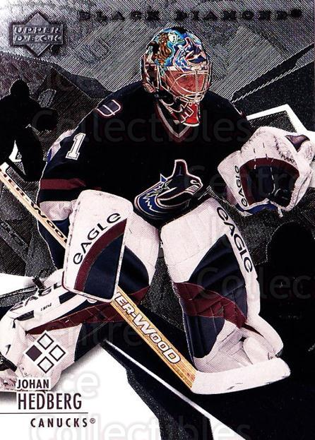 2003-04 Black Diamond #47 Johan Hedberg<br/>2 In Stock - $1.00 each - <a href=https://centericecollectibles.foxycart.com/cart?name=2003-04%20Black%20Diamond%20%2347%20Johan%20Hedberg...&quantity_max=2&price=$1.00&code=111698 class=foxycart> Buy it now! </a>