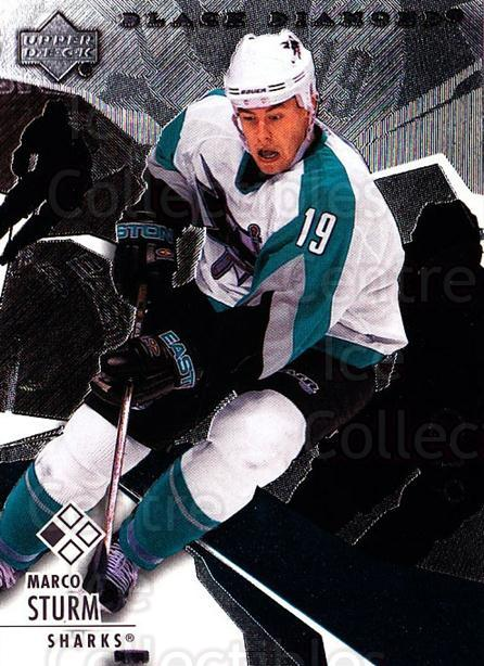 2003-04 Black Diamond #65 Marco Sturm<br/>3 In Stock - $1.00 each - <a href=https://centericecollectibles.foxycart.com/cart?name=2003-04%20Black%20Diamond%20%2365%20Marco%20Sturm...&quantity_max=3&price=$1.00&code=111716 class=foxycart> Buy it now! </a>