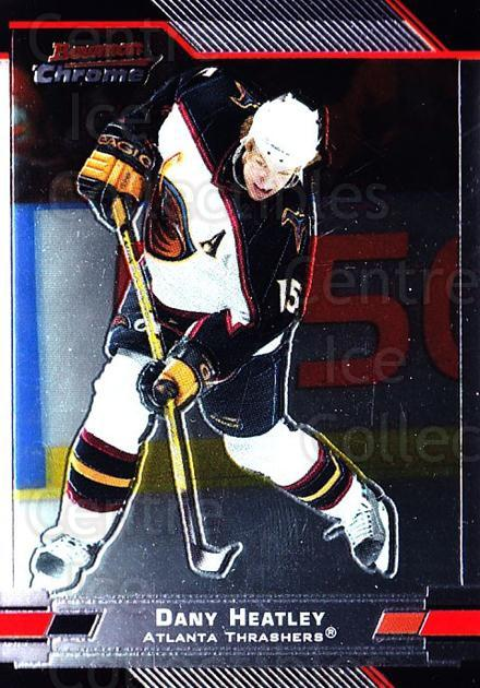 2003-04 Bowman Chrome #15 Dany Heatley<br/>3 In Stock - $1.00 each - <a href=https://centericecollectibles.foxycart.com/cart?name=2003-04%20Bowman%20Chrome%20%2315%20Dany%20Heatley...&quantity_max=3&price=$1.00&code=111809 class=foxycart> Buy it now! </a>