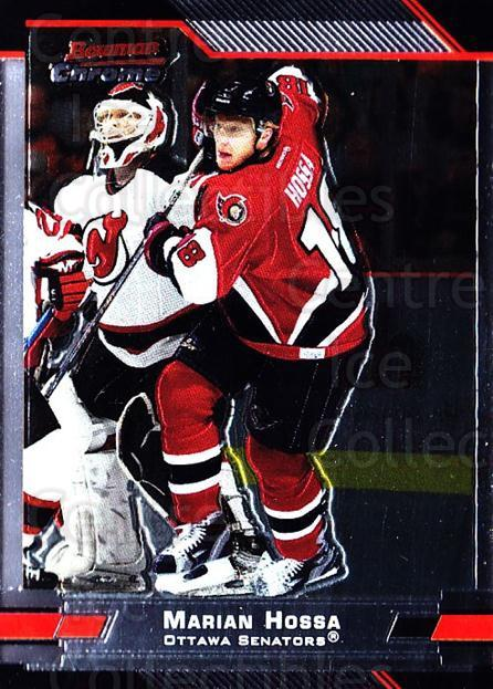 2003-04 Bowman Chrome #18 Marian Hossa<br/>4 In Stock - $1.00 each - <a href=https://centericecollectibles.foxycart.com/cart?name=2003-04%20Bowman%20Chrome%20%2318%20Marian%20Hossa...&quantity_max=4&price=$1.00&code=111810 class=foxycart> Buy it now! </a>