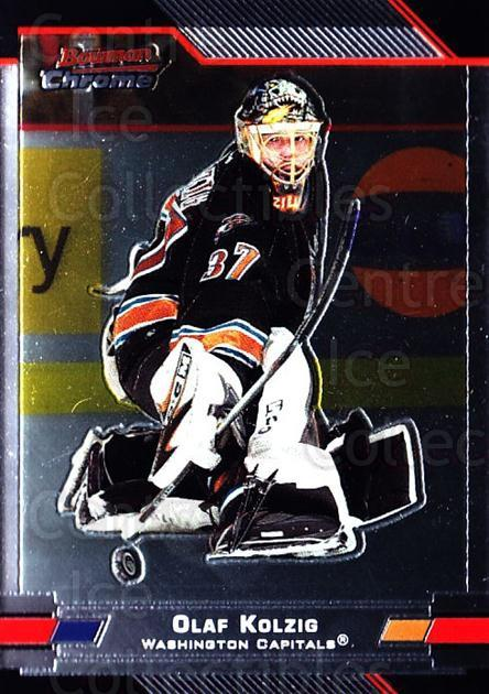 2003-04 Bowman Chrome #56 Olaf Kolzig<br/>5 In Stock - $1.00 each - <a href=https://centericecollectibles.foxycart.com/cart?name=2003-04%20Bowman%20Chrome%20%2356%20Olaf%20Kolzig...&quantity_max=5&price=$1.00&code=111848 class=foxycart> Buy it now! </a>