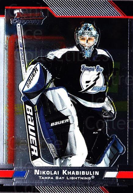 2003-04 Bowman Chrome #88 Nikolai Khabibulin<br/>5 In Stock - $1.00 each - <a href=https://centericecollectibles.foxycart.com/cart?name=2003-04%20Bowman%20Chrome%20%2388%20Nikolai%20Khabibu...&quantity_max=5&price=$1.00&code=111877 class=foxycart> Buy it now! </a>