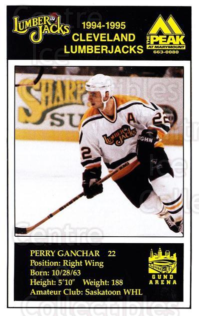 1994-95 Cleveland Lumberjacks Postcards #12 Perry Ganchar<br/>5 In Stock - $3.00 each - <a href=https://centericecollectibles.foxycart.com/cart?name=1994-95%20Cleveland%20Lumberjacks%20Postcards%20%2312%20Perry%20Ganchar...&quantity_max=5&price=$3.00&code=1118 class=foxycart> Buy it now! </a>