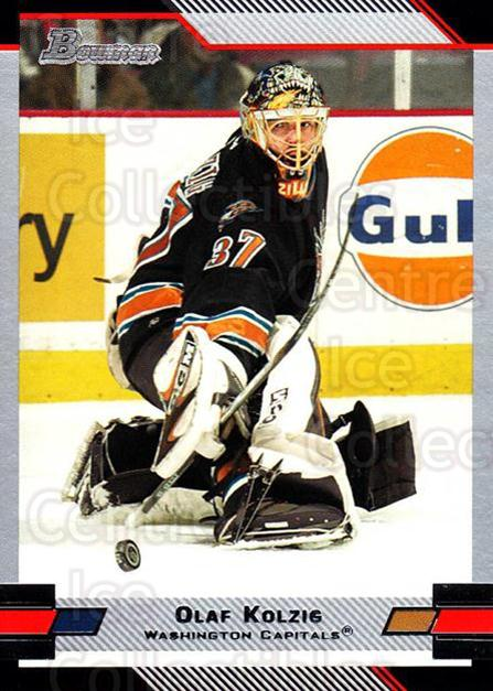 2003-04 Bowman #56 Olaf Kolzig<br/>6 In Stock - $1.00 each - <a href=https://centericecollectibles.foxycart.com/cart?name=2003-04%20Bowman%20%2356%20Olaf%20Kolzig...&quantity_max=6&price=$1.00&code=112079 class=foxycart> Buy it now! </a>