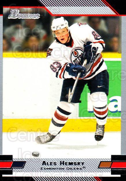 2003-04 Bowman #61 Ales Hemsky<br/>4 In Stock - $1.00 each - <a href=https://centericecollectibles.foxycart.com/cart?name=2003-04%20Bowman%20%2361%20Ales%20Hemsky...&quantity_max=4&price=$1.00&code=112085 class=foxycart> Buy it now! </a>