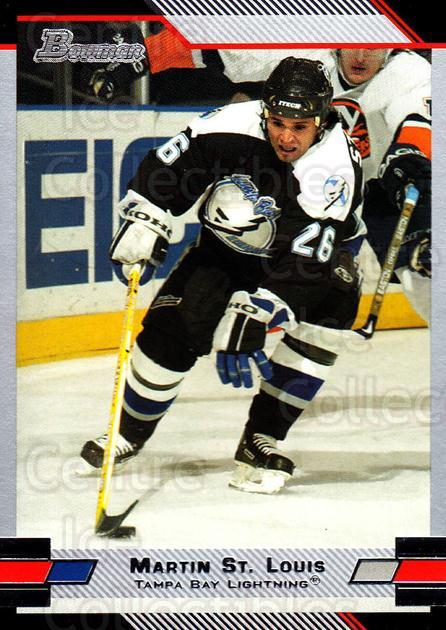 2003-04 Bowman #98 Martin St. Louis<br/>4 In Stock - $1.00 each - <a href=https://centericecollectibles.foxycart.com/cart?name=2003-04%20Bowman%20%2398%20Martin%20St.%20Loui...&quantity_max=4&price=$1.00&code=112123 class=foxycart> Buy it now! </a>