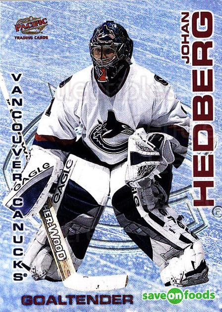 2003-04 Vancouver Canucks Sav-on-Foods #2 Johan Hedberg<br/>2 In Stock - $3.00 each - <a href=https://centericecollectibles.foxycart.com/cart?name=2003-04%20Vancouver%20Canucks%20Sav-on-Foods%20%232%20Johan%20Hedberg...&quantity_max=2&price=$3.00&code=112134 class=foxycart> Buy it now! </a>