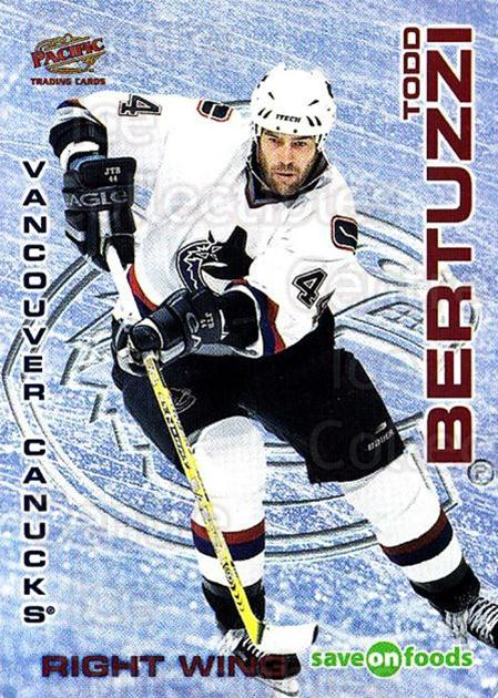 2003-04 Vancouver Canucks Sav-on-Foods #22 Todd Bertuzzi<br/>8 In Stock - $3.00 each - <a href=https://centericecollectibles.foxycart.com/cart?name=2003-04%20Vancouver%20Canucks%20Sav-on-Foods%20%2322%20Todd%20Bertuzzi...&quantity_max=8&price=$3.00&code=112136 class=foxycart> Buy it now! </a>