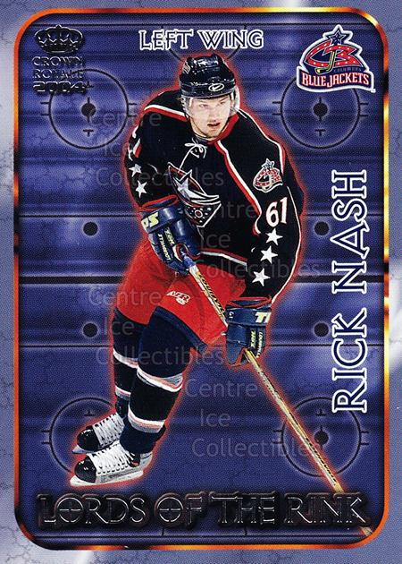 2003-04 Crown Royale Lords of the Rink #9 Rick Nash<br/>11 In Stock - $2.00 each - <a href=https://centericecollectibles.foxycart.com/cart?name=2003-04%20Crown%20Royale%20Lords%20of%20the%20Rink%20%239%20Rick%20Nash...&quantity_max=11&price=$2.00&code=112311 class=foxycart> Buy it now! </a>
