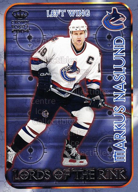 2003-04 Crown Royale Lords of the Rink #23 Markus Naslund<br/>9 In Stock - $2.00 each - <a href=https://centericecollectibles.foxycart.com/cart?name=2003-04%20Crown%20Royale%20Lords%20of%20the%20Rink%20%2323%20Markus%20Naslund...&quantity_max=9&price=$2.00&code=112358 class=foxycart> Buy it now! </a>