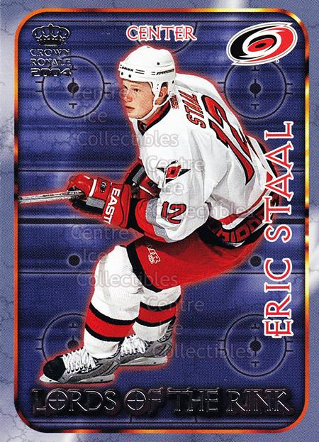 2003-04 Crown Royale Lords of the Rink #4 Eric Staal<br/>7 In Stock - $2.00 each - <a href=https://centericecollectibles.foxycart.com/cart?name=2003-04%20Crown%20Royale%20Lords%20of%20the%20Rink%20%234%20Eric%20Staal...&quantity_max=7&price=$2.00&code=112360 class=foxycart> Buy it now! </a>